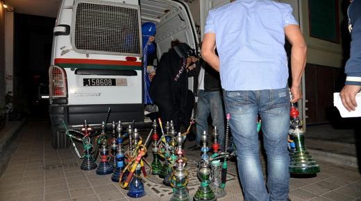 اكادير : حملة امنية على مقاهي الشيشة تسفر عن حجز ازبد من 200 قنينة
