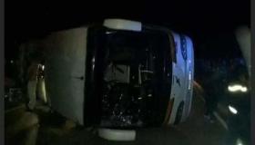 جرحى في حادث انقلاب حافلة للمسافرين بمدخل كلميم