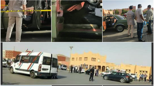بالصور ، جديد قضية حجز الاسلحة النارية وسط المحطة الطرقية لكلميم