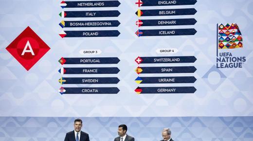 دوري الأمم: فرنسا مع البرتغال وكرواتيا، إنكلترا مع بلجيكا وإسبانيا مع ألمانيا