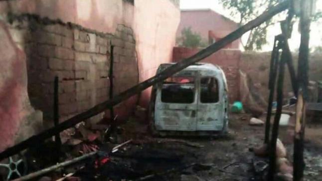 حرق سيارة مواطن من طرف مجهولين بإقليم شيشاوة