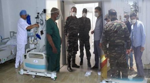 فريق من الطب العسكري يزور مستشفى انزكان الإقليمي وينسق مع نظيره المدني لمكافحة كوفيد 19