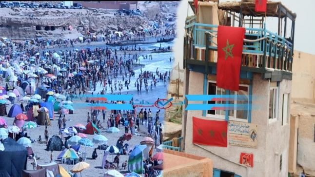 """سيدي بيبي : فعاليات تطالب تزويد شاطىء """" تفنيت """" بالماء والكهرباء"""