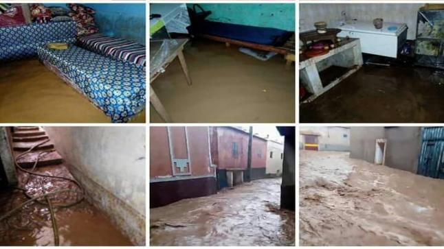 تارودانت : المياه تغمر منازل بدوار انيلول ومطالب بالتدخل .