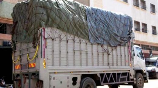 توقيف شاحنة قادمة من جنوب المملكة بها مواد مهربة
