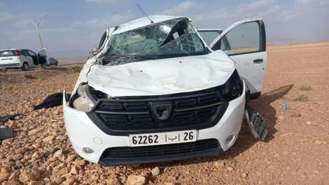 """وفاة """" سائحة فرنسية """" في حادث إنقلاب سيارة بتنغير"""